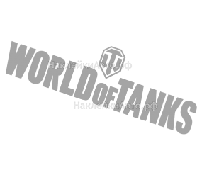 "Наклейка ""World of Tanks"" надпись"