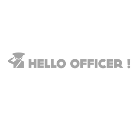 "Наклейка ""HELLO OFFICER!"""