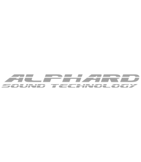"Наклейка ""Alphard Sound Technology"""