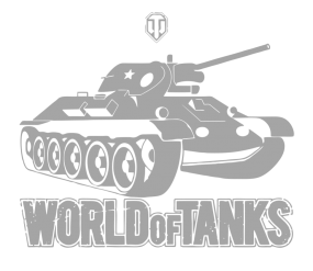 "Наклейка ""World of tanks"" - надпись с танком"