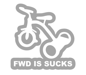 "Наклейка ""FWD is suck"""